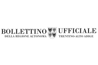bollettino ufficiale regione autonoma trentino-alto adige logo
